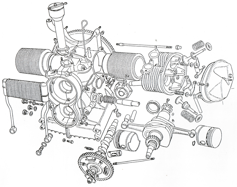 The Engine Cutaway View on bugatti veyron w16 engine