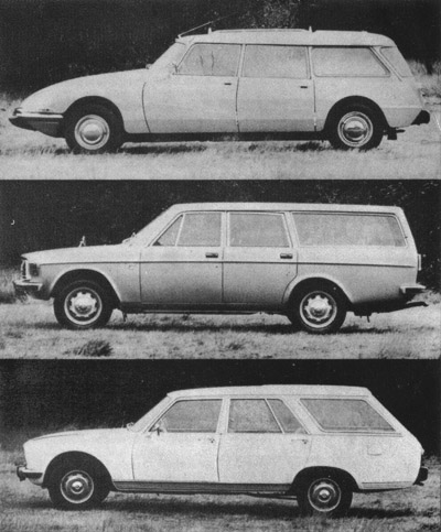Car Magazine Giant Test Peugeot 504 Estate Citroen Safari Volvo 145