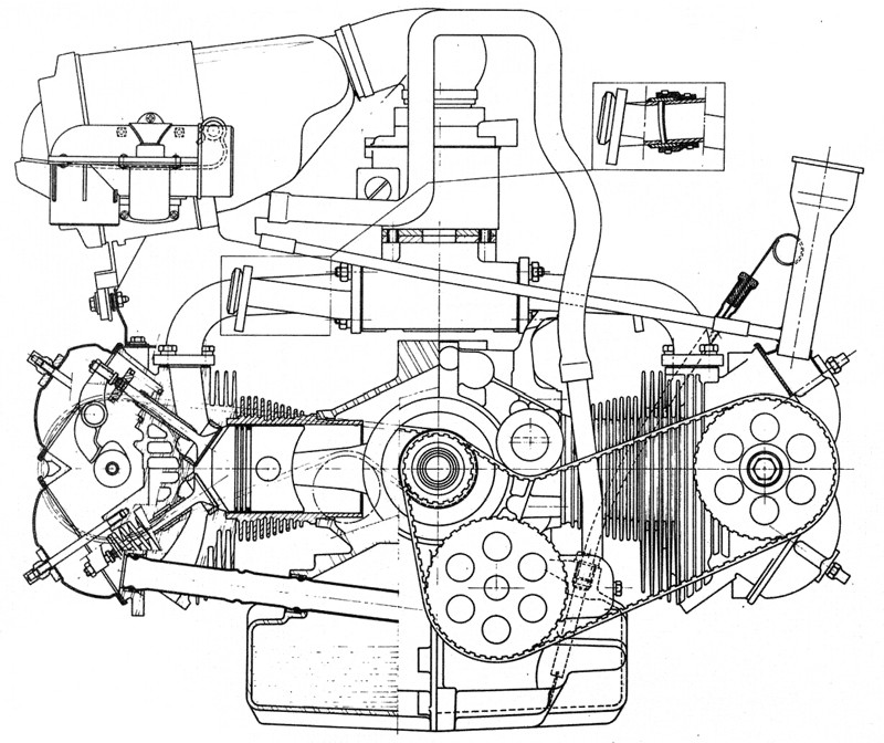 Vw Boxer Engine Cylinders And Distributor Reference Technical