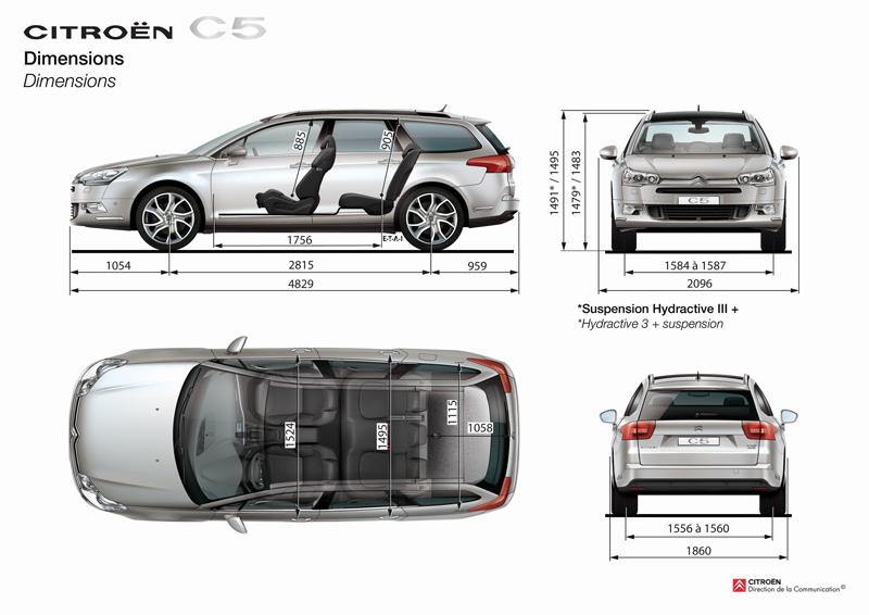 New Citro U00ebn C5 Page 10 Airbags - Dimensions