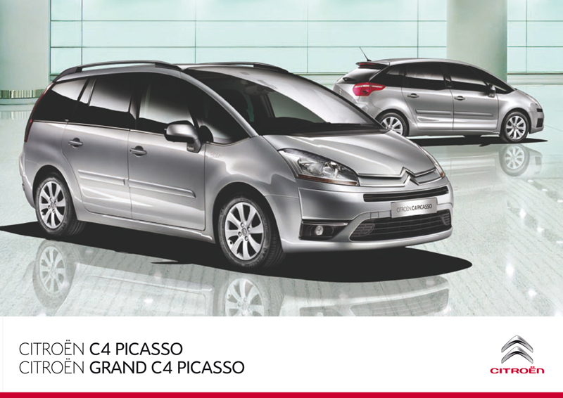 citro n c4 picasso and grand c4 picasso uk brochure 2010. Black Bedroom Furniture Sets. Home Design Ideas
